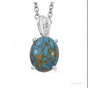 Mojave Blue Turquoise and Simulated Diamond